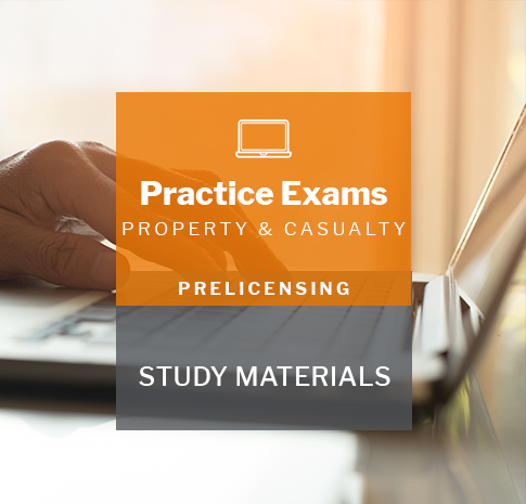 Property and Casualty insurance prelicensing program practice exams